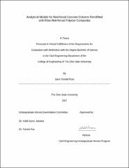 Analytical Models for Reinforced Concrete Columns Retrofitted with