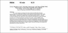 Thumbnail of Cavity Ringdown Laser Absorption Spectroscopy and Time-of-Flight Mass Spectroscopy of Jet-cooled Transition Metal Silicides