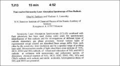 Thumbnail of Time resolved Intracavity Laser Absorption Spectroscopy of Free Radicals