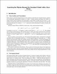 Physics standard pdf model