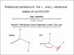 Thumbnail of ROTATIONAL TRANSITIONS IN THE $\nu_9$ AND $\nu_7$ VIBRATIONAL STATES OF $cis$-HCOOH