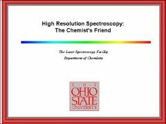 Thumbnail of HIGH RESOLUTION SPECTROSCOPY: THE CHEMIST'S FRIEND