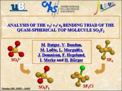 Thumbnail of ANALYSIS OF THE $\nu_3$/$\nu_7$/$\nu_9$ BENDING TRIAD OF THE QUASI-SPHERICAL TOP MOLECULE SO$_2$F$_2$