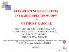 Thumbnail of FLUORESCENCE-DIP INFRARED SPECTROSCOPY OF METHOXY RADICAL