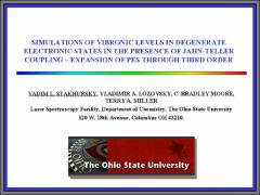 Thumbnail of SIMULATIONS OF VIBRONIC LEVELS IN DEGENERATE ELECTRONIC STATES IN THE PRESENCE OF JAHN-TELLER COUPLING - EXPANSION OF PES THROUGH THIRD ORDER