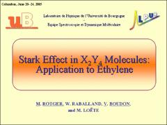 Thumbnail of STARK EFFECT IN X$_2$Y$_4$ MOLECULES: APPLICATION TO ETHYLENE