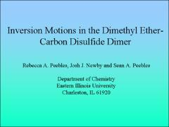 Thumbnail of INVERSION MOTIONS IN THE DIMETHYL ETHER--CARBON DISULFIDE DIMER