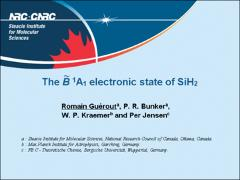 Thumbnail of THE $\tilde{B}$ $^1A_1$ ELECTRONIC STATE OF SiH$_2$