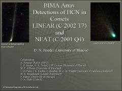 Thumbnail of BIMA ARRAY DETECTIONS OF HCN IN COMETS LINEAR (C/2002 T7) AND NEAT (C/2001 Q4)