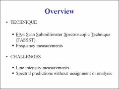 Thumbnail of FAst Scan Submillimeter Spectroscopic Technique (FASSST)