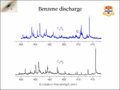 Thumbnail of IDENTIFYING FLUORESCENT HYDROCARBON RADICALS FROM A BENZENE DISCHARGE