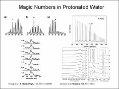 Thumbnail of MAGIC NUMBERS IN HYDRATED ALKALI METAL ION CLUSTERS: INFARED SPECTROSCOPY OF $K^{+}(H_{2}O)_{n}$ and $Cs^{+}(H_{2}O)_{n}$
