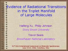 Thumbnail of EVIDENCE FOR RADIATIONAL TRANSITIONS IN THE TRIPLET MANIFOLD OF SOME AROMATIC MOLECULES