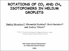 Thumbnail of ROTATIONS OF CO$_2$ AND CH$_4$ ISOTOPOMERS IN HELIUM DROPLETS