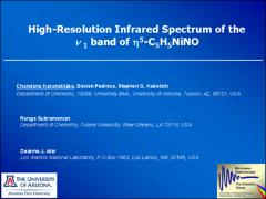 Thumbnail of THE HIGH-RESOLUTION INFRA-RED SPECTRUM OF CYCLOPENTADIENYL NICKEL NITROSYL