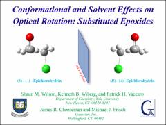 Thumbnail of CONFORMATIONAL AND SOLVENT EFFECTS ON OPTICAL ROTATION: SUBSTITUTED EPOXIDES