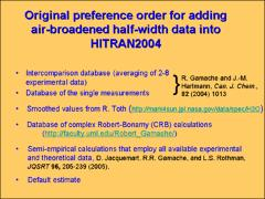 "Thumbnail of A NEW ""DIET"" FOR AIR-BROADENED HALF-WIDTHS OF WATER VAPOR IN THE HITRAN2004 COMPILATION"