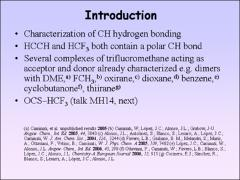 Thumbnail of C--H...$\pi$ and C--F...H--C INTERACTIONS IN THE ACETYLENE--FLUOROFORM DIMER
