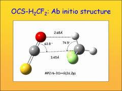 Thumbnail of C--H HYDROGEN BONDING INTERACTIONS IN THE CARBONYL SULFIDE--FLUOROFORM DIMER