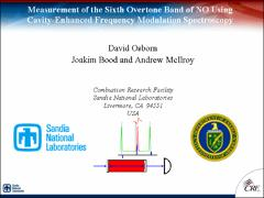 Thumbnail of MEASUREMENT OF THE SIXTH OVERTONE BAND OF NITRIC OXIDE USING CAVITY-ENHANCED FREQUENCY MODULATION SPECTROSCOPY (NICE-OHMS)