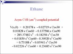 Thumbnail of ETHANE ASYMMETRIC C-H STRETCHING VIBRATIONAL SPECTRA