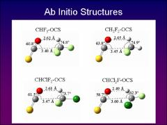 Thumbnail of MICROWAVE AND AB INITIO INVESTIGATIONS OF CHCl$_2$F--OCS AND RELATED HYDROCHLOROFLUOROCARBON COMPLEXES