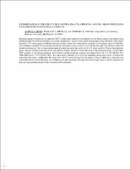 Thumbnail of DETERMINATION OF THE STRUCTURE OF METHYLENE CYCLOPENTANE AND THE ARGON METHYLENE CYCLOPENTANE VAN DER WAALS COMPLEX