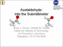 Thumbnail of ACETALDEHYDE: INTO THE SUBMILLIMETER