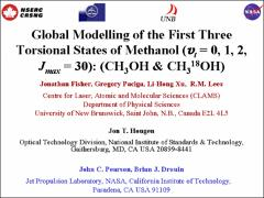 Thumbnail of GLOBAL MODELLING OF THE FIRST THREE TORSIONAL STATES OF METHANOL ($v_t$ = 0, 1, 2, $J_{max}$ = 30): CH$_{3}$OH AND CH$_3^{18}$OH