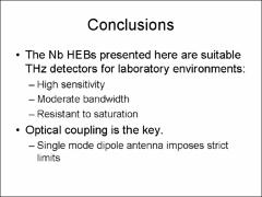 Thumbnail of CHARACTERIZATION OF A HEB DETECTOR FOR THz RADIATION