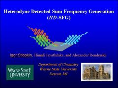 Thumbnail of HETERODYNE DETECTED SUM FREQUENCY GENERATION (SFG) AS A NOVEL TOOL TO MEASURE ADSORBANT CONCENTRATION AT INTERFACES