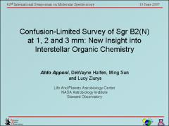 Thumbnail of CONFUSION-LIMITED SURVEY OF SGRB2N AT 1, 2, AND 3 MM: NEW INSIGHT INTO INTERSTELLAR ORGANIC CHEMISTRY
