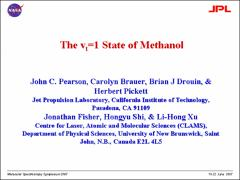 Thumbnail of THE $v_{t}=1$ STATE OF METHANOL