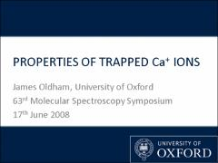 Thumbnail of PROPERTIES OF TRAPPED Ca$^+$ IONS AT SUB-KELVIN TEMPERATURES