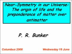 Thumbnail of NEAR SYMMETRY IN OUR UNIVERSE: THE ORIGIN OF LIFE AND THE PREPONDERANCE OF MATTER OVER ANTIMATTER