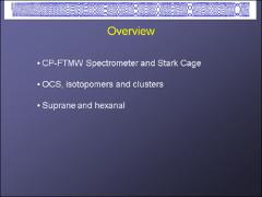 Thumbnail of MOLECULAR STARK EFFECT MEASUREMENTS IN BROADBAND CHIRPED-PULSE FOURIER TRANSFORM MICROWAVE (CP-FTMW) SPECTROMETERS