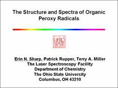 Thumbnail of THE STRUCTURE AND SPECTRA OF ORGANIC PEROXY RADICALS