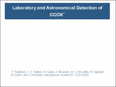 Thumbnail of LABORATORY AND ASTRONOMICAL DETECTION OF THE NEGATIVE MOLECULAR ION C$_3$N$^-$