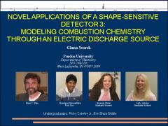 Thumbnail of NOVEL APPLICATIONS OF SHAPE-SENSITIVE DETECTOR 3: MODELING COMBUSTION CHEMISTRY THROUGH ELECTRIC DISCHARGE SOURCE