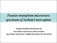 Thumbnail of FOURIER TRANSFORM MICROWAVE SPECTRA OF ISOBUTYL MERCAPTAN