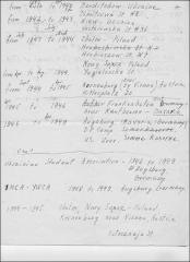 Thumbnail of Address notes, 1940-1954: Olha Balaban (nee Olha Rybachuk)