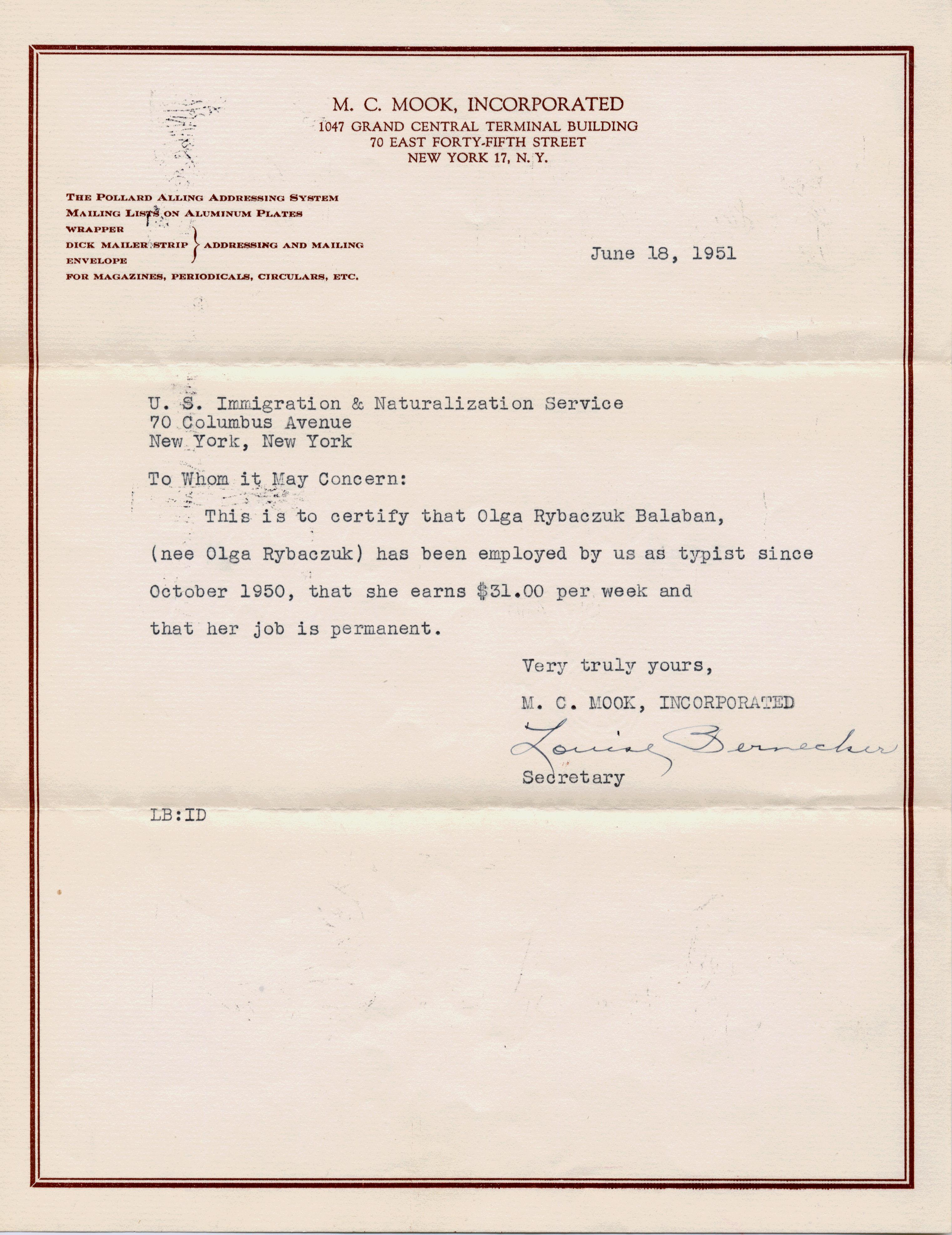 employment document