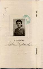 Thumbnail of Index Lectionum [Index of Courses] page with photo and signature: Olha Balaban (nee Olha Rybachuk)