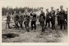 Thumbnail of Photograph: Suwalki, Poland, 1939, Rybachuk, Mykola with members of Polish Infantry Regiment.