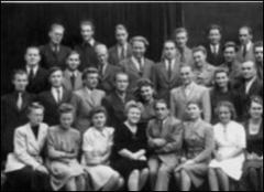 Thumbnail of Photograph: Munchen, Germany, 1946, students of Philosophy faculty at Ukrainian Free University.