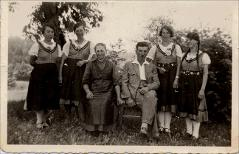Thumbnail of Photograph: Klagenfurt, Austria, 1941, Yurii Fedechko's employer with her family.