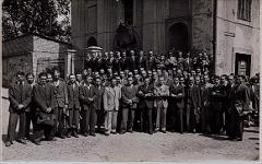 Thumbnail of Photograph: Klagenfurt, Austria, 1946, Yurii Fedechko among group of men.