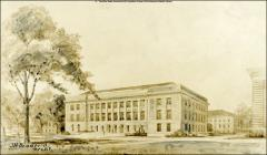 Thumbnail of Administration Building (Bricker Hall), The Ohio State University: Rendering
