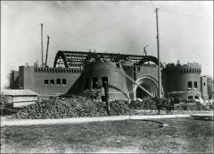 Thumbnail of Armory, The Ohio State University: Exterior view during construction