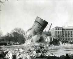 Thumbnail of Armory, The Ohio State University: View during demolition